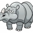 Stock Vector: Cartoon rhino