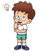 Boy with a good idea — Stock Vector