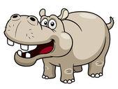 Dessin animé hippopotame — Vecteur