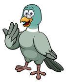 Cartoon pigeon — Stock Vector