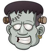 Cartoon zombie face — Stock Vector