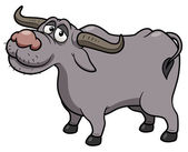 Cartoon Buffalo — Vector de stock