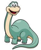 Cartoon dinosaur vector — Stock Vector