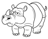 Cartoon rhino — Stock Vector