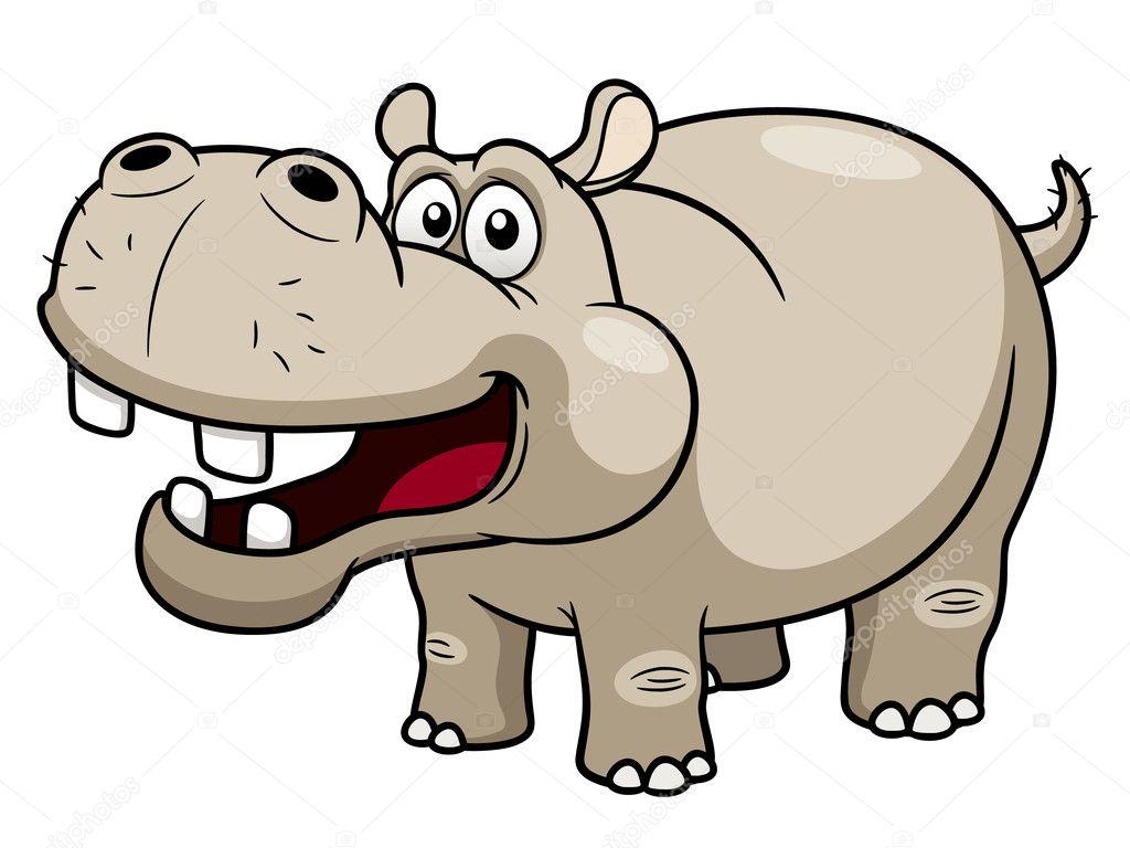 Cartone animato ippopotamo — vettoriali stock sararoom