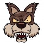 Cartoon wolf face — Stock Vector