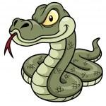 Cartoon Snake — Stock Vector