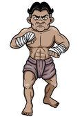 Thai Boxing — Stock Vector