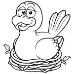 Bird in a nest — Stock Vector #29188037