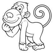 卡通猴 — 图库矢量图片