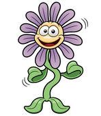 Cartoon flower dance — Stock Vector