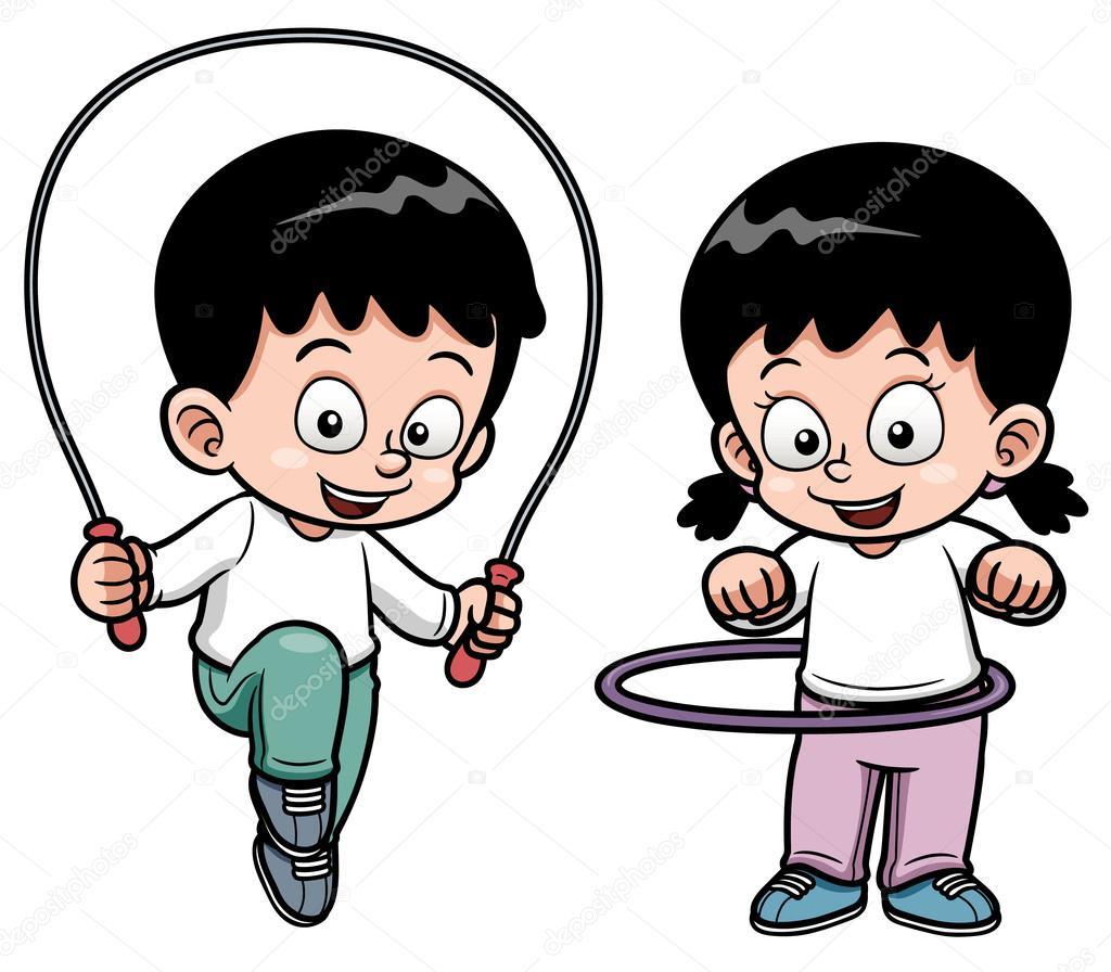Niños haciendo ejercicio — Archivo Imágenes Vectoriales ...