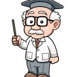 Cartoon Professor — Stock Vector