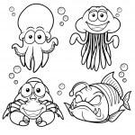 Sea Animals cartoon — Stock Vector #29310777