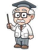 Cartoon Professor — Stock Vector
