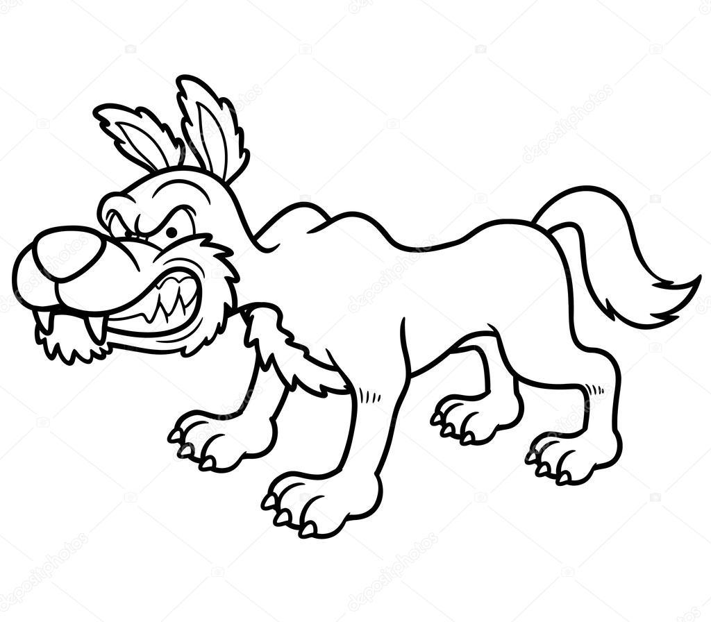 Cartone animato lupo — vettoriali stock sararoom