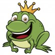 Cartoon frog prince — Stock Vector