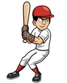 Baseball Cartoon Player — Stock Vector