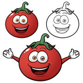 Karikatür domates — Stok Vektör