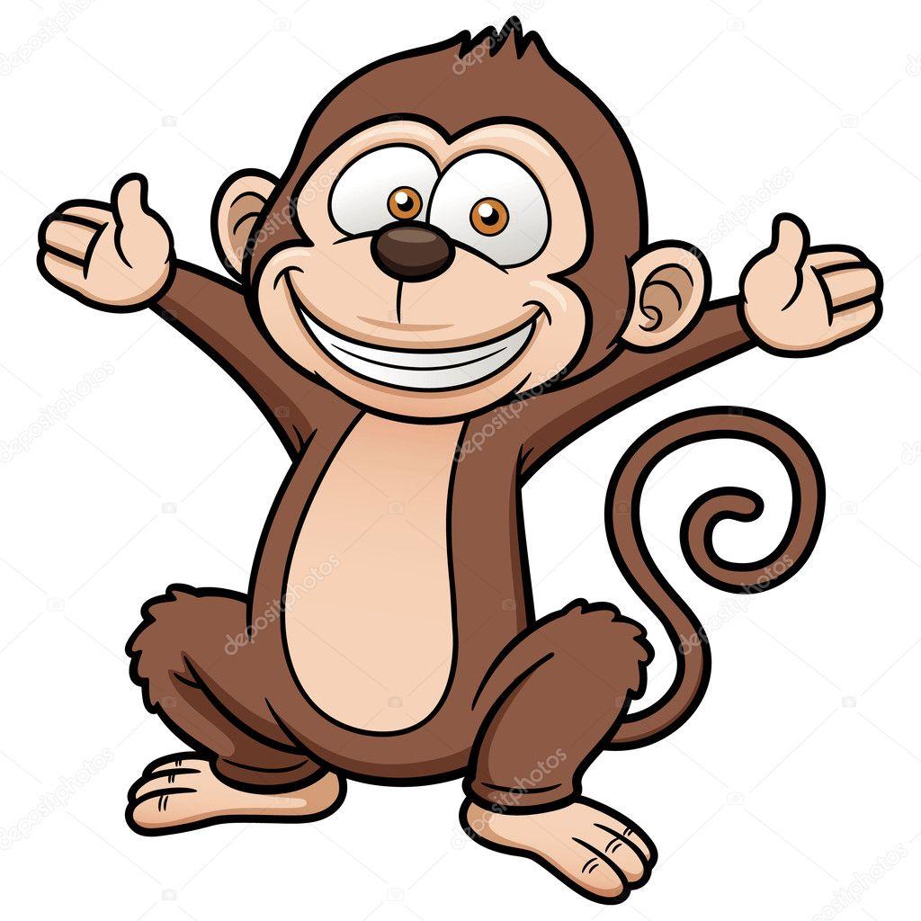 Scimmia di cartone animato — vettoriali stock sararoom