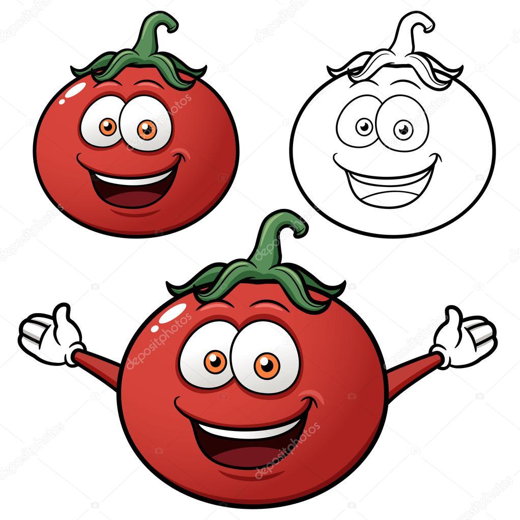 西红柿 卡通手绘