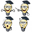 Cartoon light bulb — 图库矢量图片
