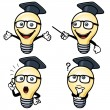 Cartoon light bulb — Stockvectorbeeld