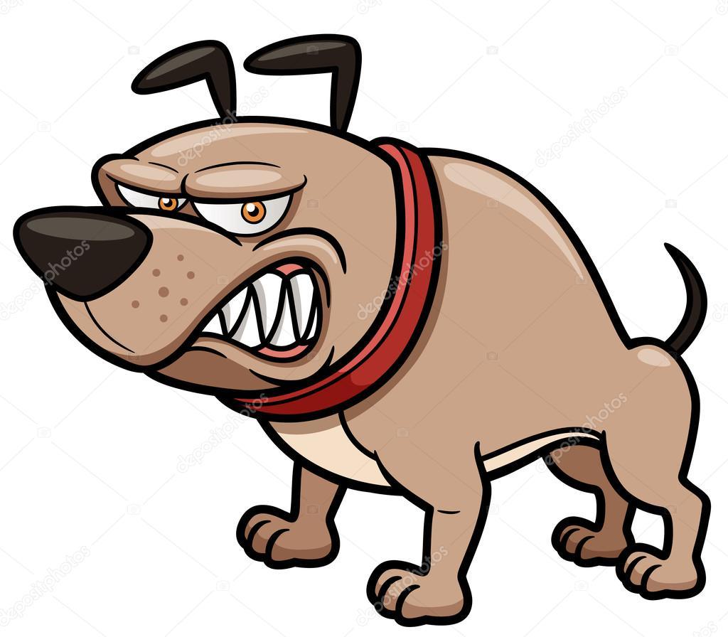 愤怒的狗矢量图 — 矢量图片作者