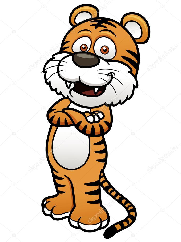 Cartone animato tigre — vettoriali stock sararoom