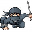 Cartoon Ninja — Stock Vector