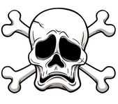 Skull and Crossbones — Stock Vector