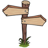 Wooden arrows sign — Stock Vector