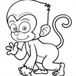 Stock Vector: Cartoon Monkey