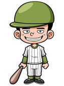 Cartoon Baseball Player — Stock Vector