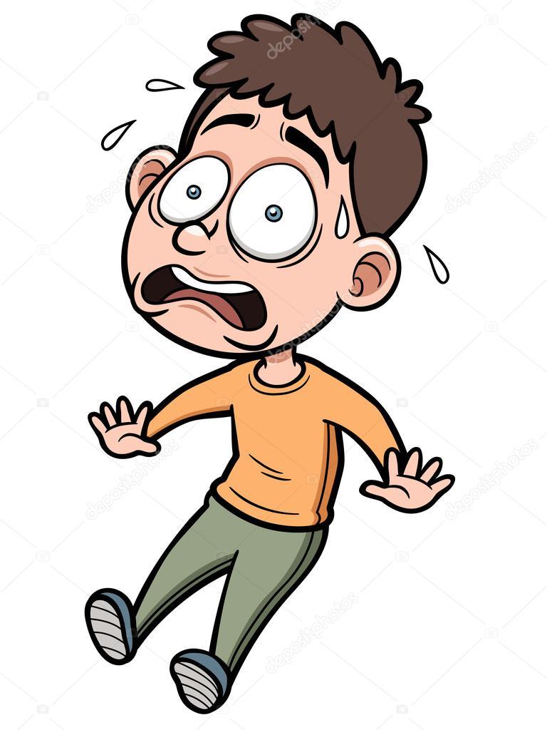 Homme de dessin anim peur image vectorielle sararoom 30051479 - Dessin anime qui fait peur ...
