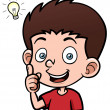 Boy with a good idea — Stock Vector
