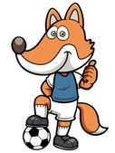 Soccer player fox — Stock Vector