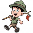Boy scout — Stock Vector