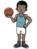 Cartoon basketball player — Stock Vector