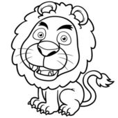 Lion cartoon — Stock Vector