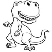 Cartoon dinosaur — Stockvector