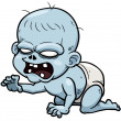 Cartoon zombie baby — Stock Vector #31165333