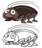 Cartoon kackerlacka — Stockvektor