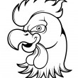 Angry Cock  Head — Stock Vector