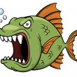 Angry fish cartoon — Stock Vector #37444485