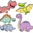 Stock Vector: Dinosaurs cartoon