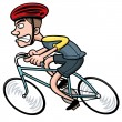 Cartoon Cyclist — Stock Vector