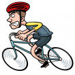 Stock Vector: Cartoon Cyclist