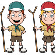 Stock Vector: Scout kids