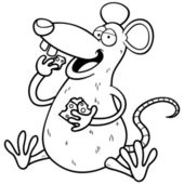 Rata de dibujos animados — Vector de stock